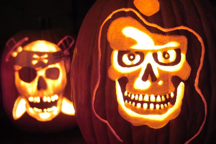pirate carved pumpkin for halloween