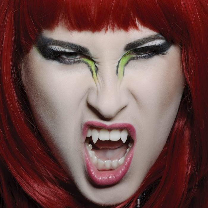 vampire face paint for halloween