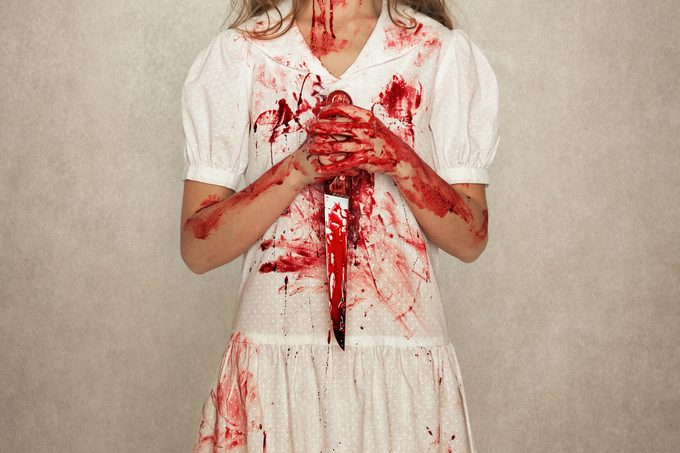 fake blood on halloween costume