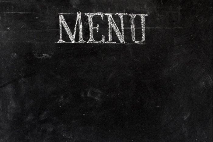 black halloween menu