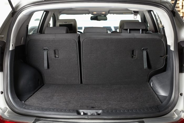 Empty open trunk of the car