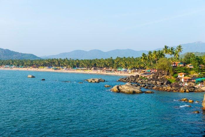Palolem Beach in Goa, Konkan, India