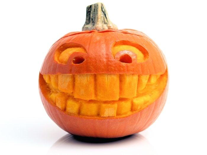 Smiling Carved pumpkin