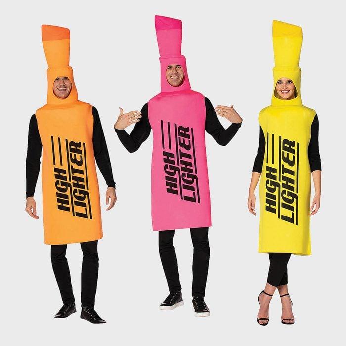 Highlighters Halloween Costume Via Orientaltrading