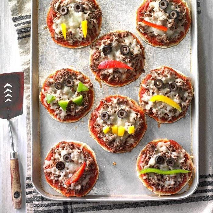 Jack O Lantern Pizzas
