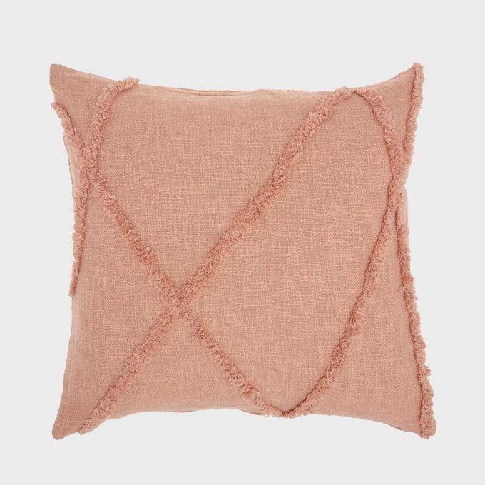 Mina Victory Distressed Diamond Throw Pillow 18 X 18