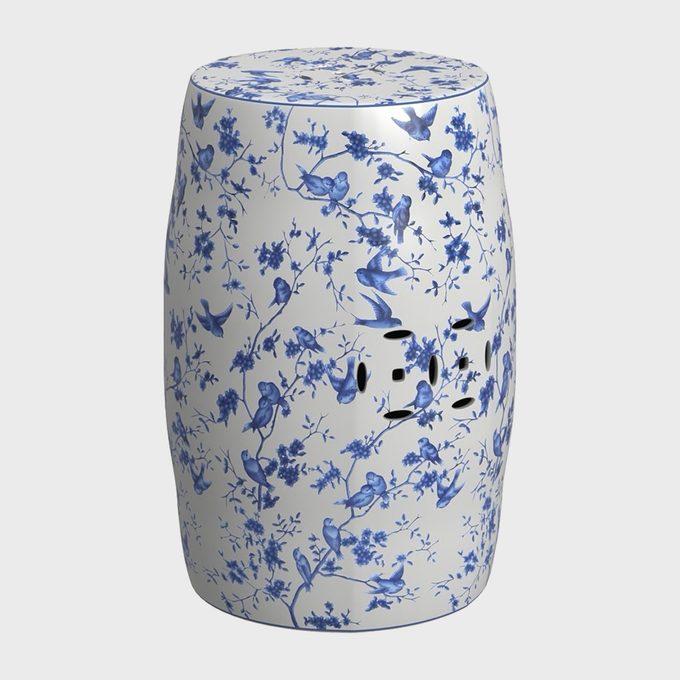 Safavieh Blue And White Decorative Stool