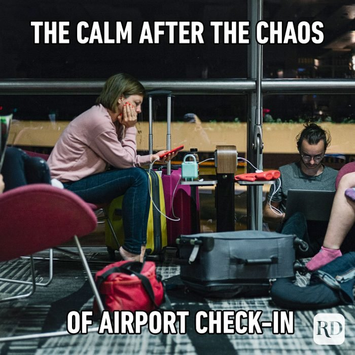 The Calm After The Chaos Of Airport Check In