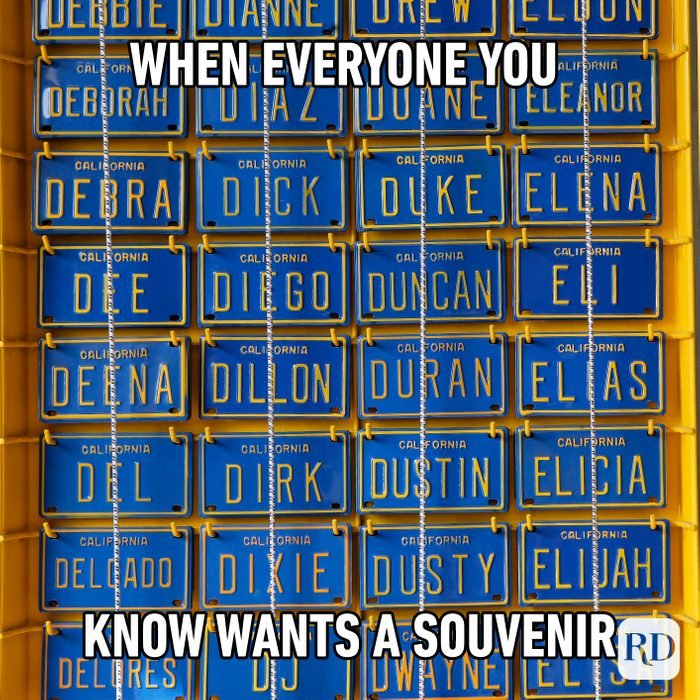 When Everyone You Know Wants A Souvenir