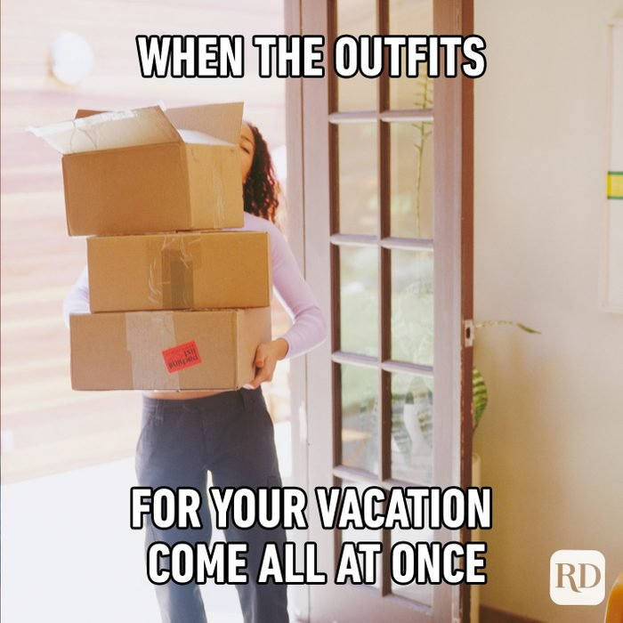 When The Outfits For Your Vacation Come All At Once