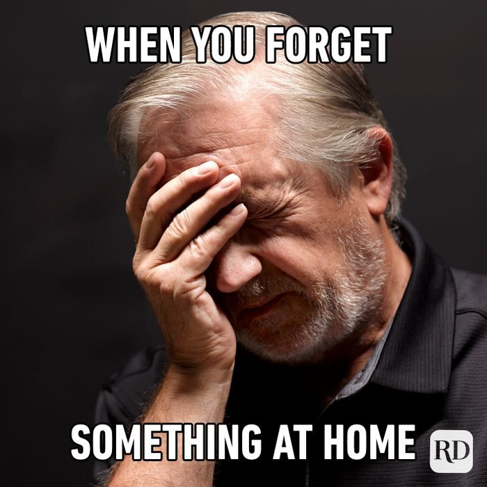 When You Forget Something At Home