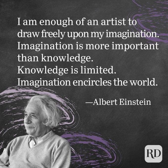 Kutipan Albert Einstein tentang Imajinasi 01