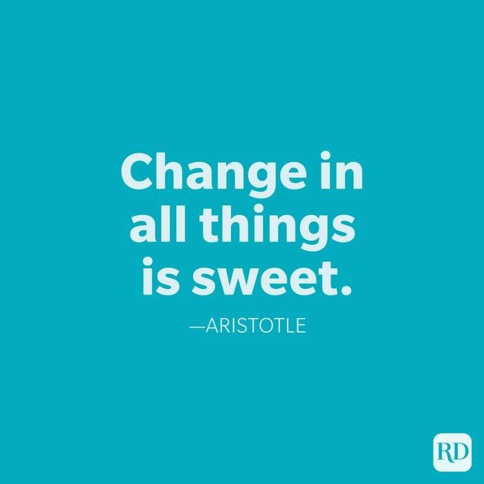 Aristotle Change Quotes