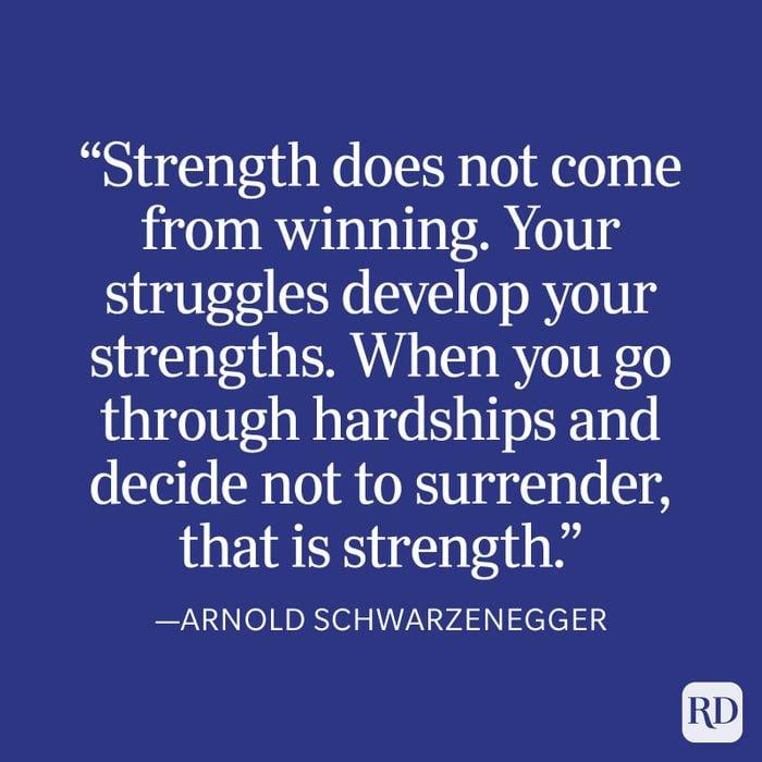 Arnold Schwarzenegger Strength Quote