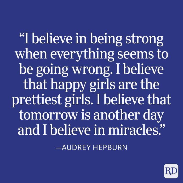 Audrey Hepburn Strength Quote
