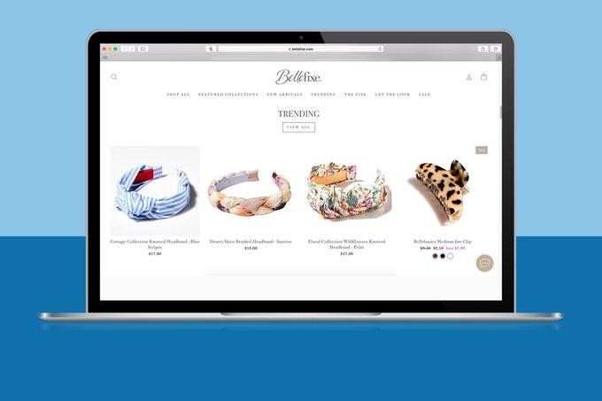 BelleFixe website homepage