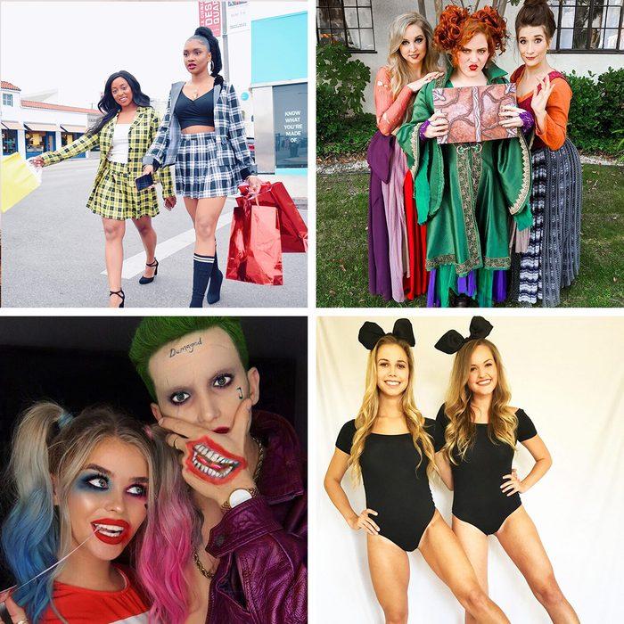 Best Friend Halloween Costume Grid Collage