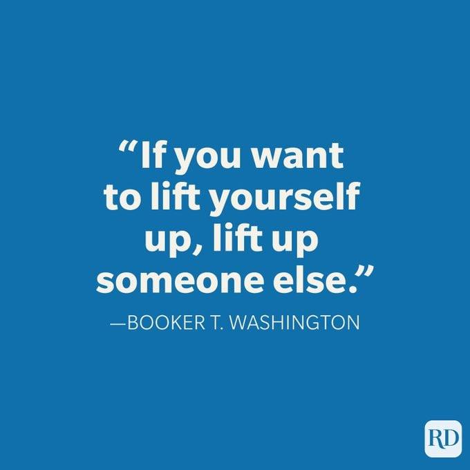 Booker T Washington Teamwork Quote