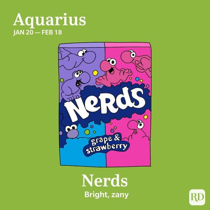 Aquarius favorite candy