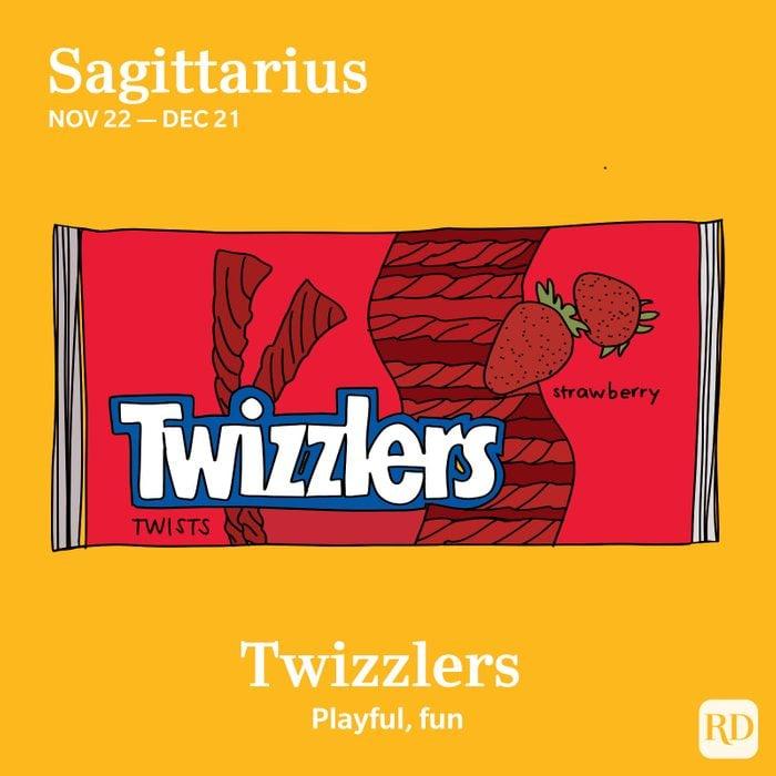 Sagittarius favorite candy