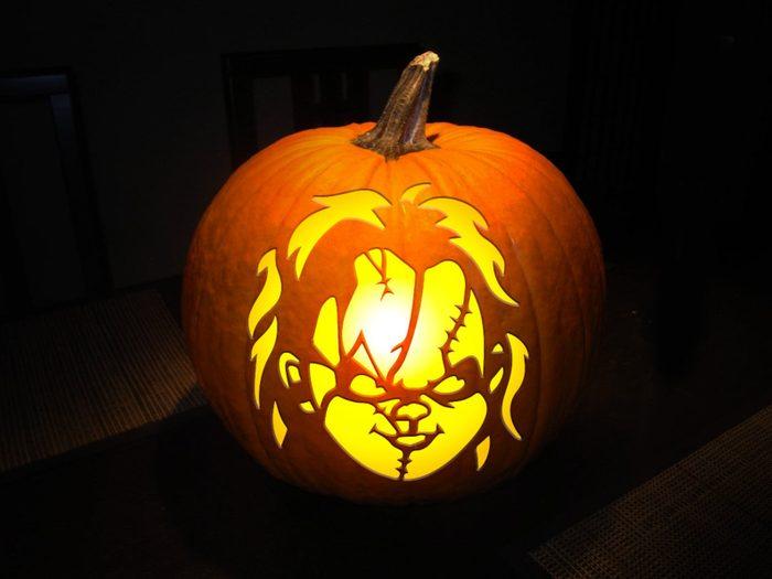 Chucky Carved Pumpkin