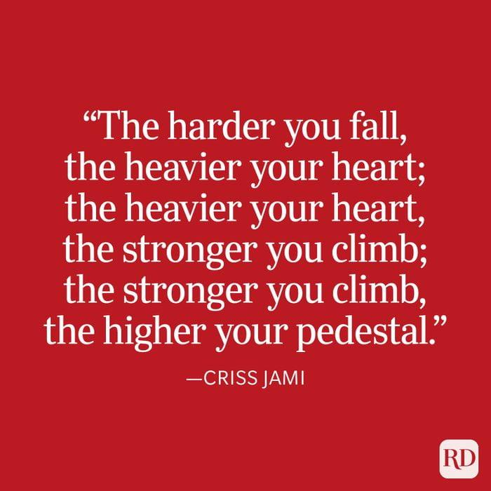 Criss Jami Strength Quote