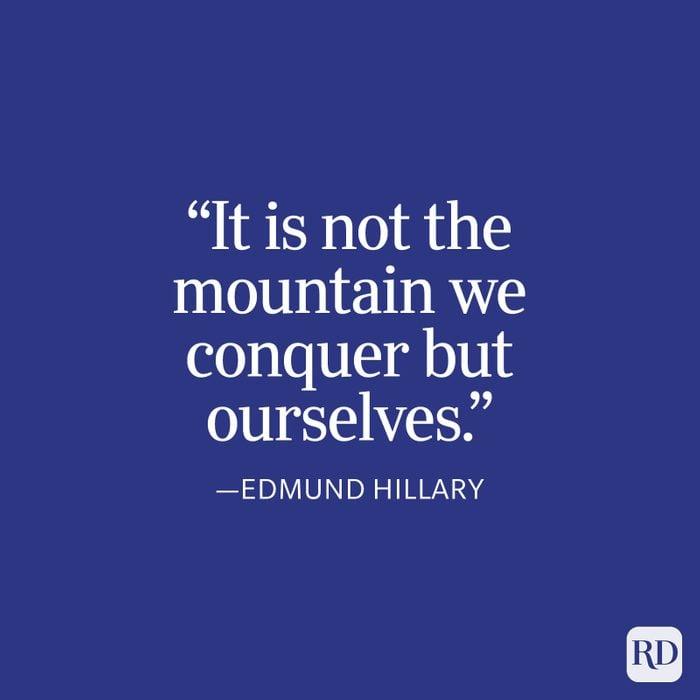 Edmund Hillary Strength Quote