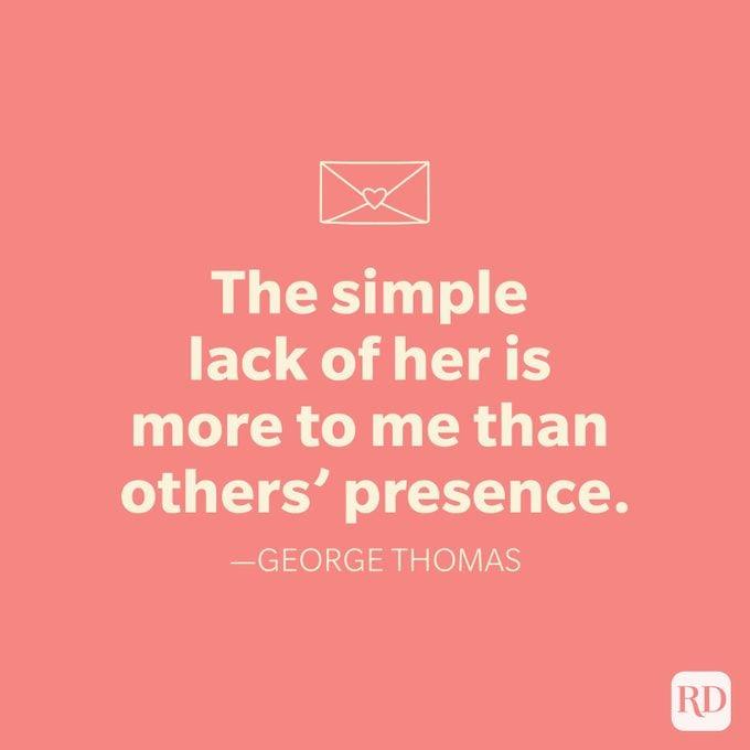 George Thomas Love Quote