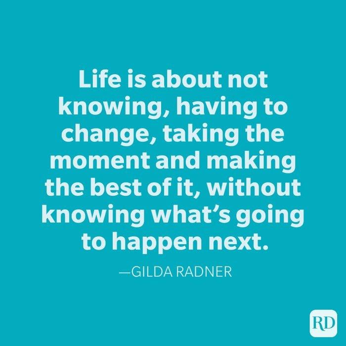 Gilda Radner Change Quotes
