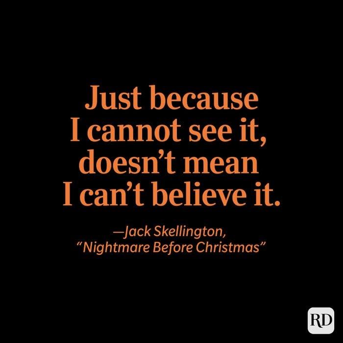 "Jack Skellington, ""Nightmare Before Christmas"" quote"