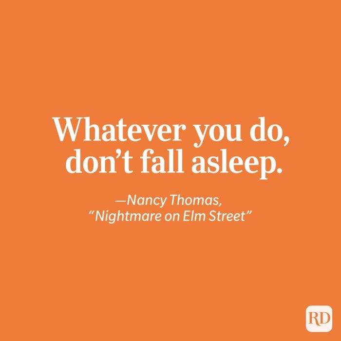 """Nightmare on Elm Street"" quote"