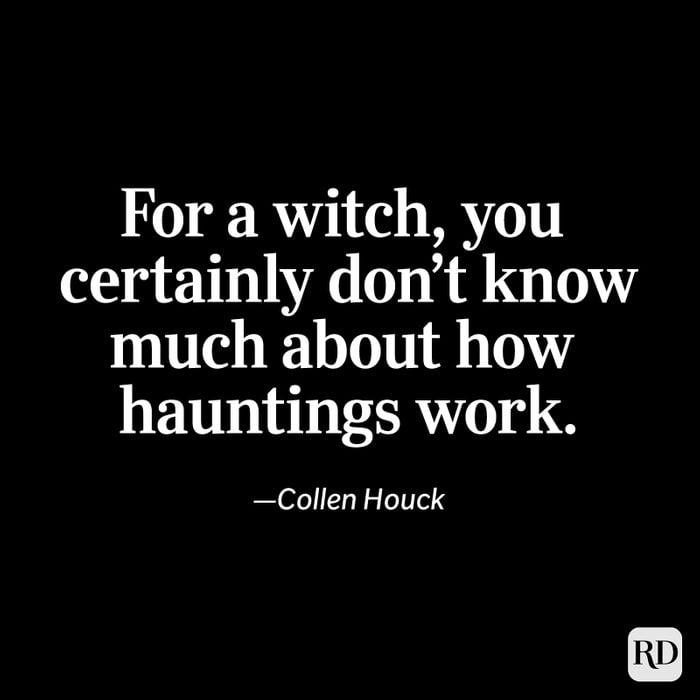 Collen Houck quote