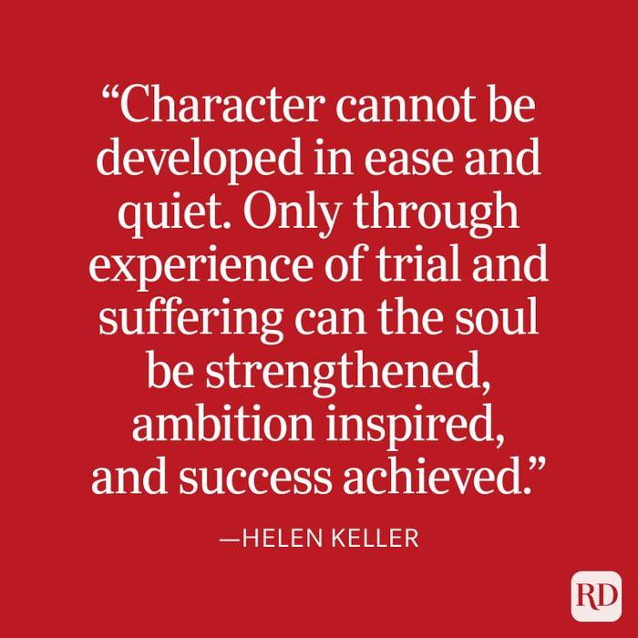 Helen Keller Strength Quote