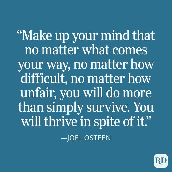 Joel Osteen Strength Quote