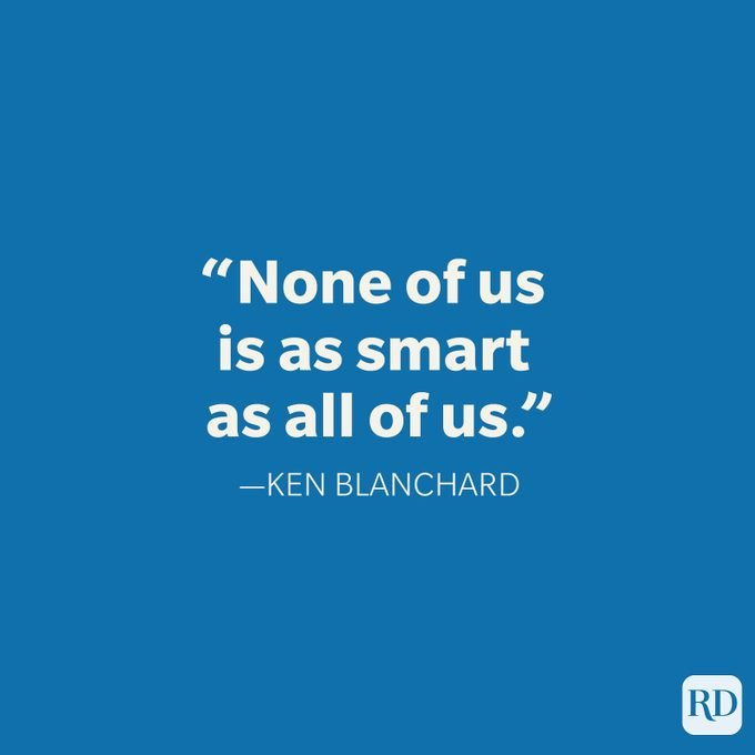 Ken Blanchard Teamwork Quote