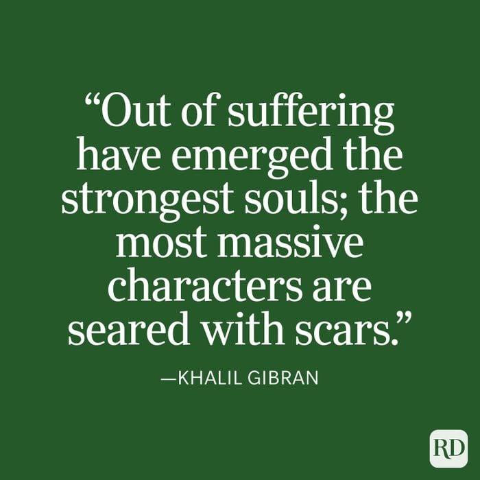 Khalil Gibran Strength Quote