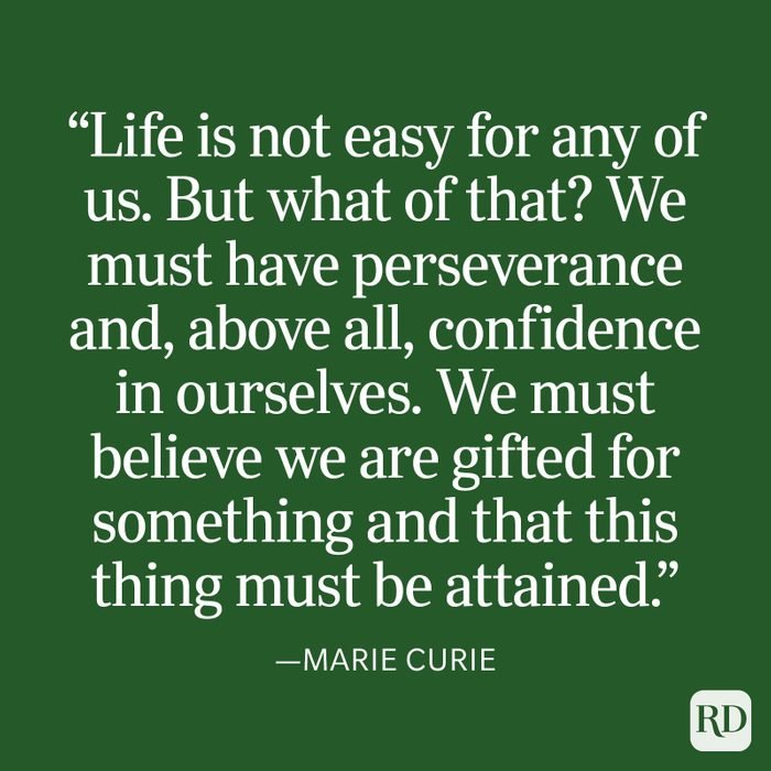 Marie Curie Strength Quote