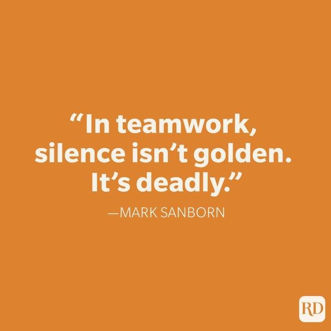 Mark Sanborn Teamwork Quote