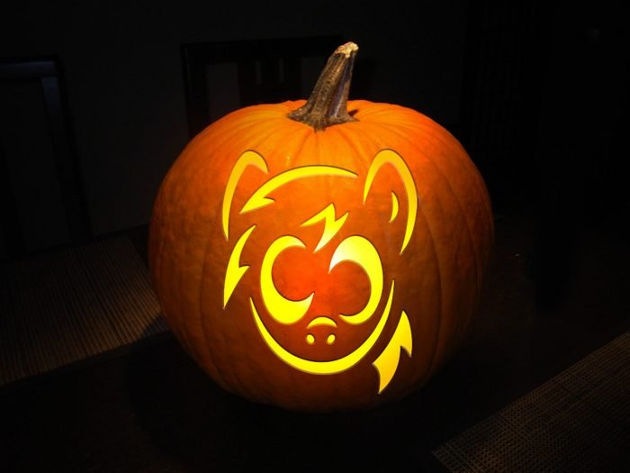 My Little Pony Carved Pumpkin
