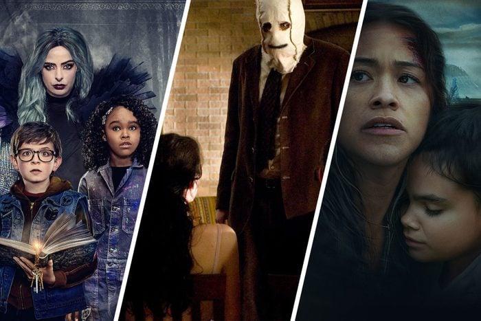 Una serie di immagini promozionali di film di paura su Netflix