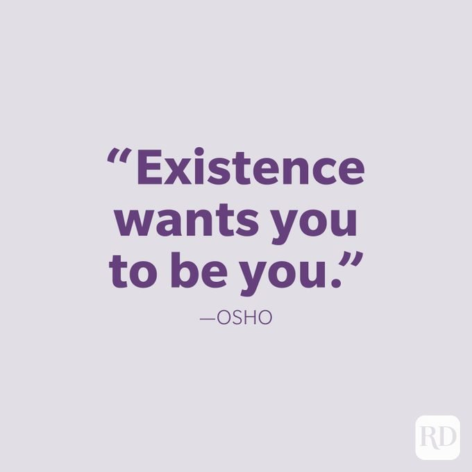Osho Be Yourself Quote