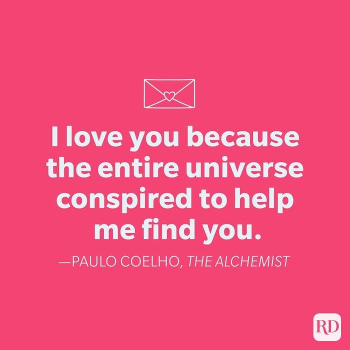 Paulo Coehlo Love Quote