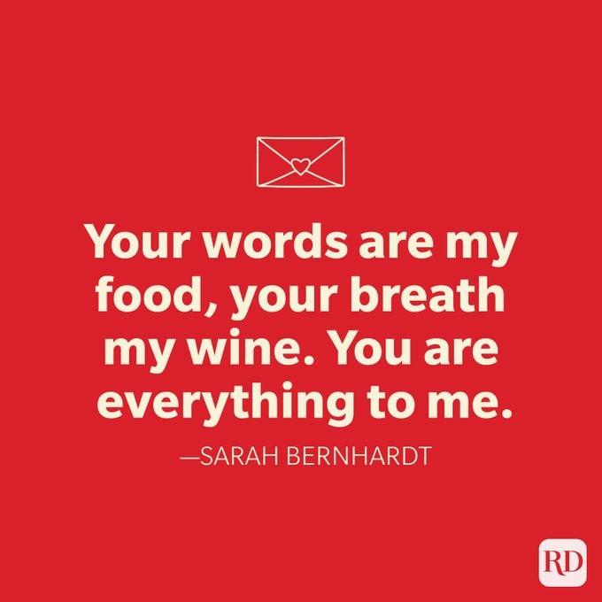 Sarah Bernhardt Love Quote