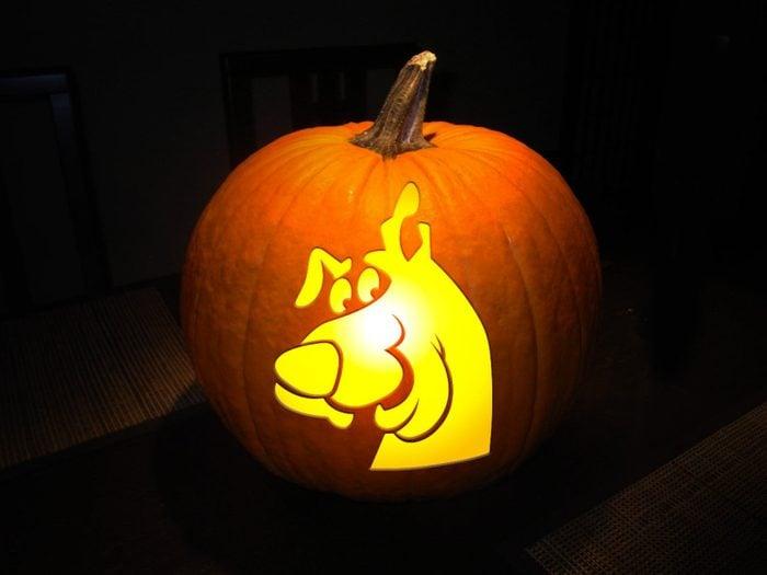Scooby Doo Carved Pumpkin