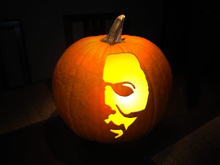 Slasher Carved Pumpkin