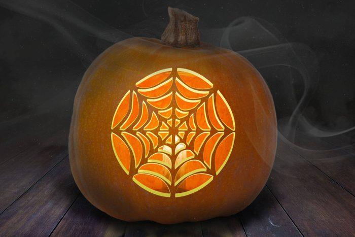 Spider Web Pumpkin Stencil