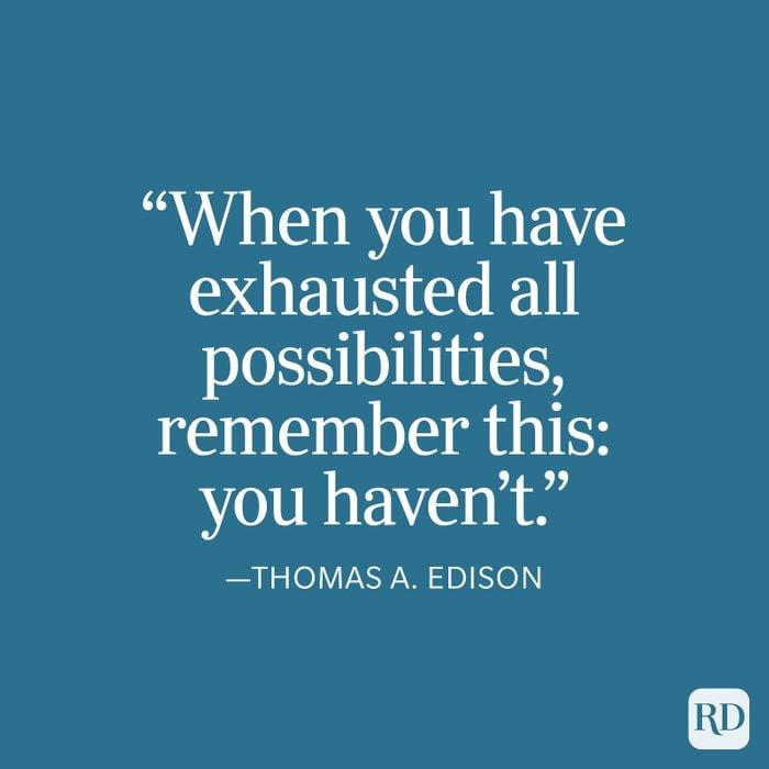 Thomas Edison Strength Quote