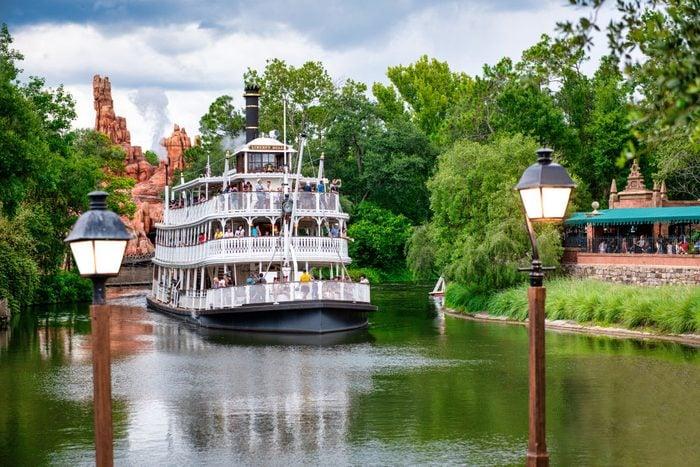 Tourist cruise ship at Walt Disney World's Magic Kingdom...