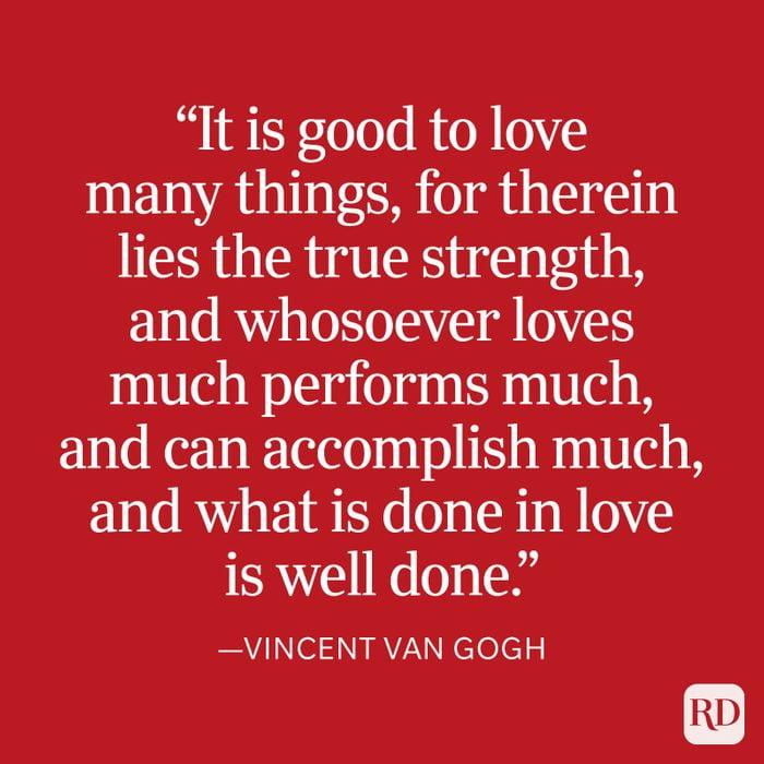Vincent Van Gogh Strength Quote