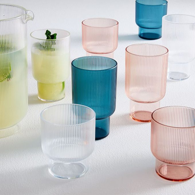 West Elm Fluted Acrylic Glasses